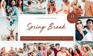15 x Lightroom Presets Spring Break 5962694