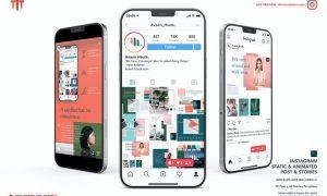 Animated Instagram Post & Stories Templates Y4B6QD3