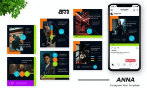 Anna Clothing Store Instagram Post Template 72YXDFW