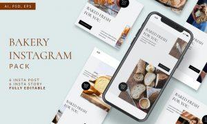 Bakery Festival Instagram Stories & Post Pack CGFJJC9