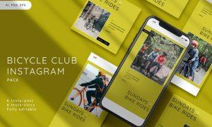 Bicycle Club Instagram Stories & Post Pack 9NASMNM
