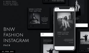 Black and White Fashion Instagram Stories & Post BQKHMZ4