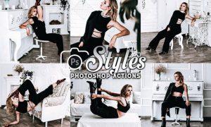 Black Style Photoshop Actions
