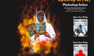 Burning Effect Photoshop Action 5999913