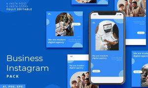 Business Instagram Stories & Post Pack QFZNNBG