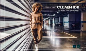 Clean HDR Action & Lightroom Preset