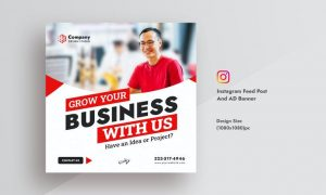 Corporate & Business Instagram Feed Post AD Banner M4PA3RF