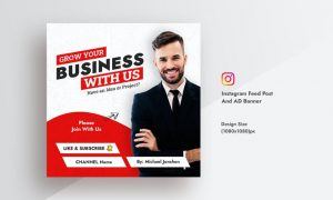 Corporate & Business Marketing Instagram Feed Post YALG7LY