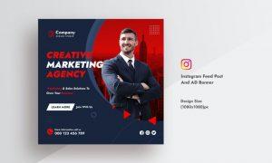 Creative Agency & Marketing Instagram Feed Post V9NHF2H