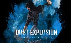 Dust Explosion Photoshop Action