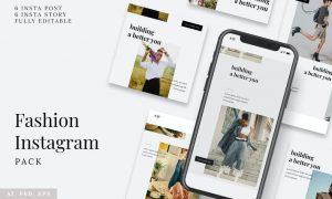 Fashion Instagram Stories & Post Pack 8LUU4AE