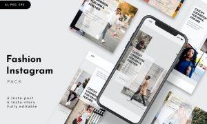 Fashion Instagram Stories & Post Pack UW6XKLK