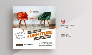 Furniture & Home Decor Instagram Feed AD Banner DU6R7MT