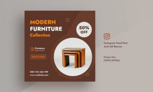 Furniture & Home Decor Instagram Feed AD Banner F2L5J2M