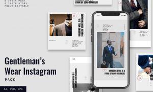 Gentleman Instagram Stories & Post Pack UY7P7VX