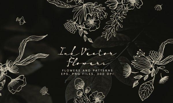 Ink Vector Flowers 2491531