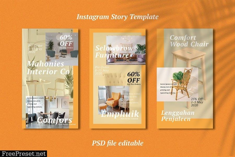 Interior Template Instagram Story KNSK2Q6