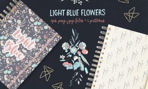 Light Blue Flowers 939214