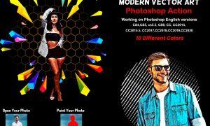 Modern Vector Art Photoshop Action 5879905