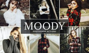 Moody Photoshop Actions