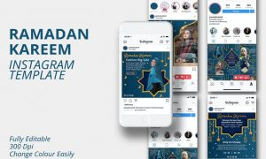 MS - Ramadan Kareem Instagram Template CJ33RAU