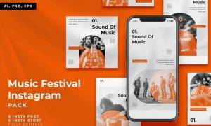 Music Festival Instagram Stories & Post Pack FVKMG5W