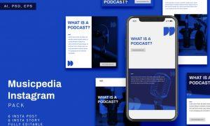 Musicpedia Instagram Stories & Post Pack L637CVV