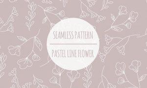 Pastel Line Flower – Seamless Pattern 6W8ZTSP