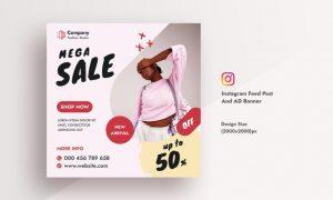 Promotional & Summer Sale Instagram AD Web Banner GPCPLJJ