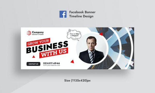 Promotional Corporate & Business Facebook Banner RVTUUSQ