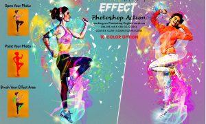 Rainbow Light Effect PS Action 5940257