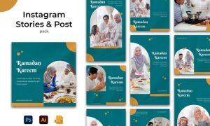 Ramadhan Kareem Instagram Stories & Post Pack JC7D4YC