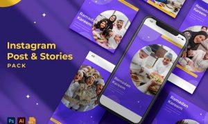 Ramadhan Kareem Instagram Stories & Post Pack RR9TX3K