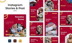 Ramadhan Kareem Instagram Stories & Post Pack W4R5LXA