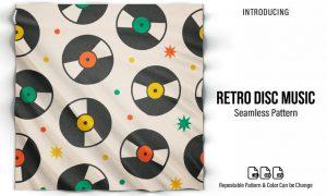 Retro Music Disc Seamless Pattern 3W876QK