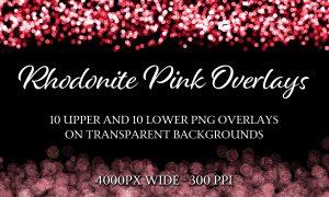 Rhodonite Pink - 10 Upper & 10 Lower Decorative Overlays