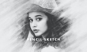 Smudged Pencil Sketch Photo Effect
