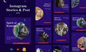 Spirit of Ramadhan Instagram Stories & Post Pack NWAFPAY