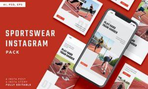 Sportswear Instagram Stories & Post Pack M8K27GE