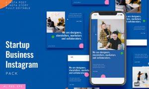 Startup Business Instagram Stories & Post Pack DDM6MGK