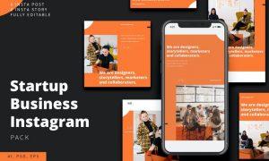 Startup Business Instagram Stories & Post Pack DHR38C2