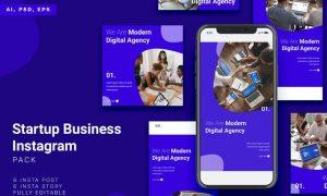 Startup Business Instagram Stories & Post Pack NW2JYAE