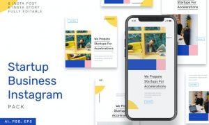 Startup Business Instagram Stories & Post Pack PYFVGTL