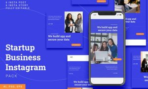 Startup Business Instagram Stories & Post Pack QQGHMXN