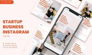 Startup Business Instagram Stories & Post Pack XQ8K7VH