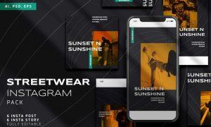 Streetwear Instagram Stories & Post Pack MVUXLTM