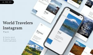 World Travelers Instagram Stories & Post Pack 39Y2V53