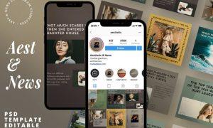 Aest News - Instagram Story & Post Media Kit 6ZLPYEP
