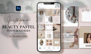 Beauty Pastel - Instagram Posts & Stories 23999AA