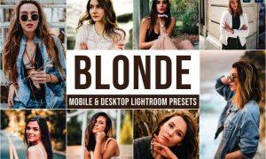 Blonde Mobile and Desktop Lightroom Presets